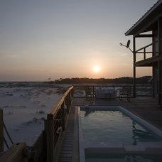 Beach Style Pool by Habitat Post & Beam, Inc.