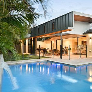 Contemporary pool in Brisbane.