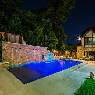 Pool Neben Dem Haus Mit Wasserrutsche Ideen Design Bilder Houzz