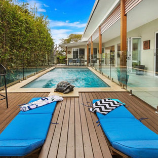 This is an example of a beach style pool in Brisbane.