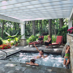 traditional pool by Hursthouse Landscape Architects and Contractors