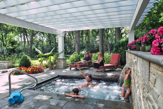 Classique Piscine by Hursthouse Landscape Architects and Contractors