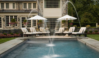 Formal Pool and Loggia with Fountains