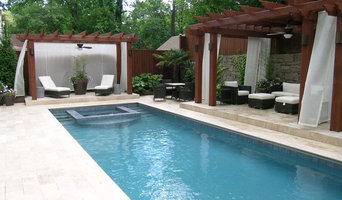 Formal Pool with Recessed Spa, Cedar Pergolas