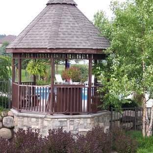 Freeform Monte Carlo(r) Inground Swimming Pool and Gazebo