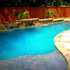 Traditional Pool by Puryear Custom Pools