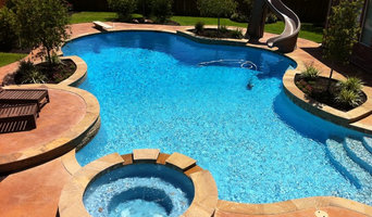 Freeform Pool with Diving Board & Slide
