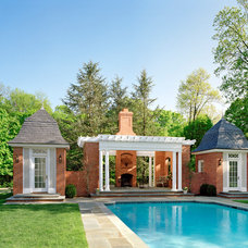 Traditional Pool by Wright Building Company