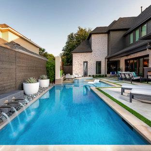 Frisco - The Lakes: Modern Swimming Pool + Outdoor Kitchen