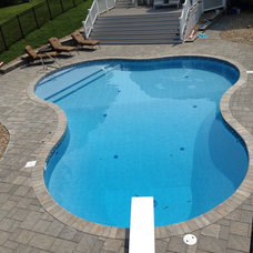 Contemporary Pool by Precision Pool Construction