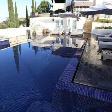 Fully Tiled Pool Compliments Spanish Estate