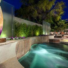 Contemporary Pool by Chimera Interior Design