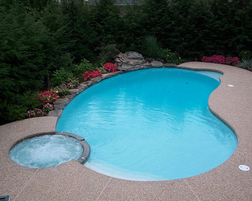 Kidney Shaped Pool Design Ideas Remodels Photos With Gravel