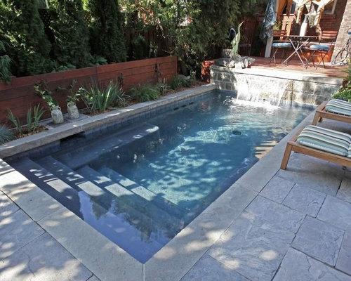 Contemporary rectangular swimming pool design ideas for Piscine coque 5 x 3