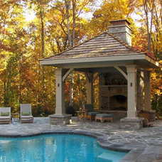 Traditional Pool by Bennett Design & Landscape