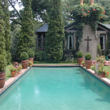Traditional Pool by Troy Rhone Garden Design