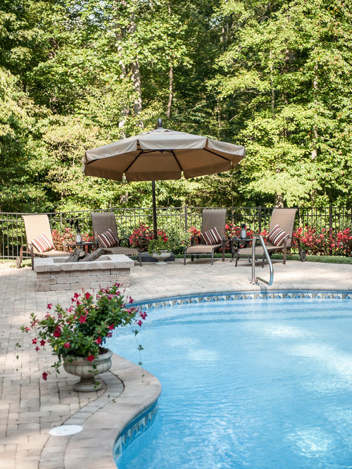 Backyard pool landscaping idea design ideas remodels photos for Pool landscaping images