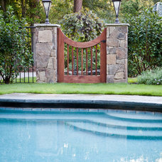 Traditional Pool by Marcia Weber Gardens to Love