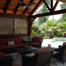 Traditional Pool by Weatherwell Elite - Aluminum Shutters