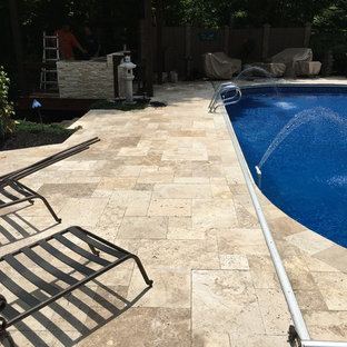 Geist travertine pool deck