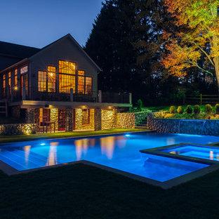Geometric pool and spa