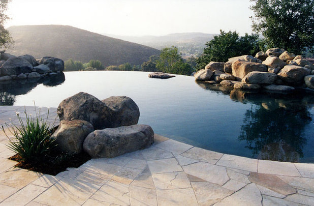 Boulders Around Pool Simple Roll With Boulders For High Landscape Impact
