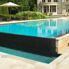 Contemporary Pool by Gib-San Pools Ltd.