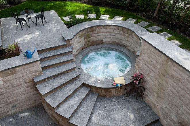 Contemporary Pool by Gib-San Pools Ltd.