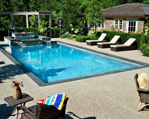 Fiberglass Pool Ideas san juan fiberglass pool roman style pool and spa combination pool spa combinations Fiberglass Pool With Spill Over Spa