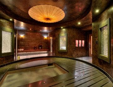 Glass Tile Indoor Spa