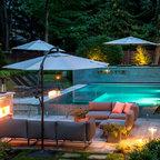 Vanishing Edge Glass Tile Pool Design Modern Pool