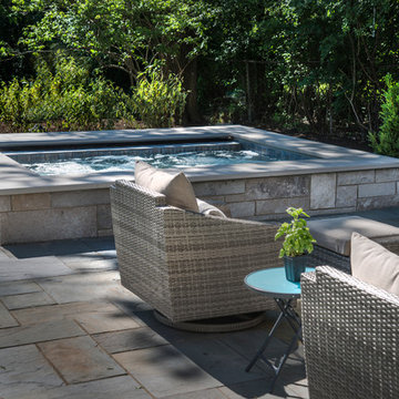 Glen Ellyn, IL Raised Hot Tub with automatic cover