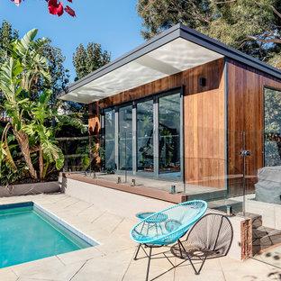 Design ideas for a contemporary rectangular pool in Melbourne.