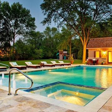 Glencoe, IL Swimming Pool and Interior Hot Tub