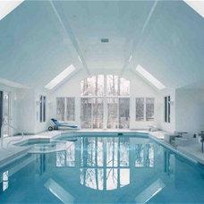 Traditional Pool by Downey Robbins Szafarz Architects Inc.