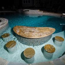Traditional Pool by Granite Grannies
