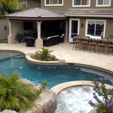 Contemporary Pool by Creative Atmospheres, Inc.