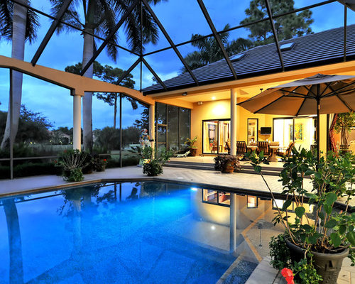 Screen enclosure home design ideas pictures remodel and for Pool design tampa