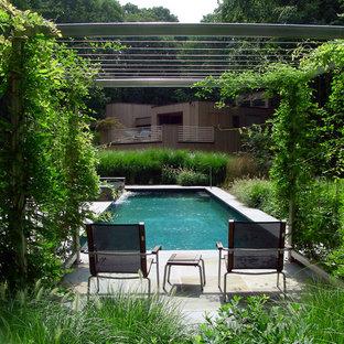 ニューヨークのエクレクティックスタイルのおしゃれなプールの写真