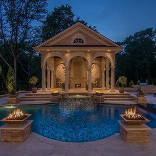 ワシントンD.C., DCのヴィクトリアン調のおしゃれなプールの写真