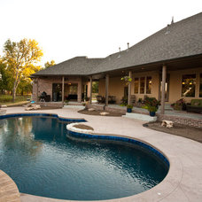Traditional Pool by Green Homes