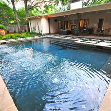 Contemporary Pool by Valerie McCaskill Dickman