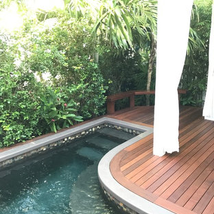 Grinnell St, Key West - Brazilian ipe deck and Mahogany waterfall feature