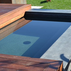 modern pool by Grounded - Richard Risner RLA, ASLA