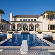 Contemporary Pool by Guido Custom Homes, Inc (Laurie Guido)