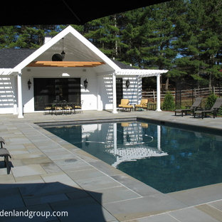 gunnite pool with Thermal bluestone deck