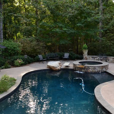 Traditional Pool by TG&R Landscape Group