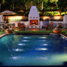 Mediterranean Pool by Estate Pools & Landscapes