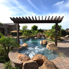 Traditional Pool by California Pools & Landscape