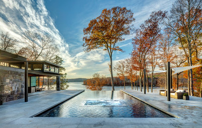 We Can Dream: Sleek and Sophisticated Pool House Along the River